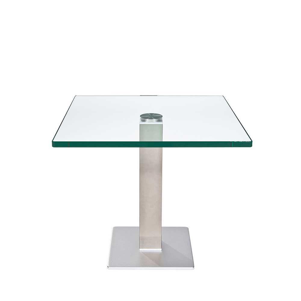Höhenverstellbarer Beistelltisch aus Glas 60 cm breit Jetzt ...