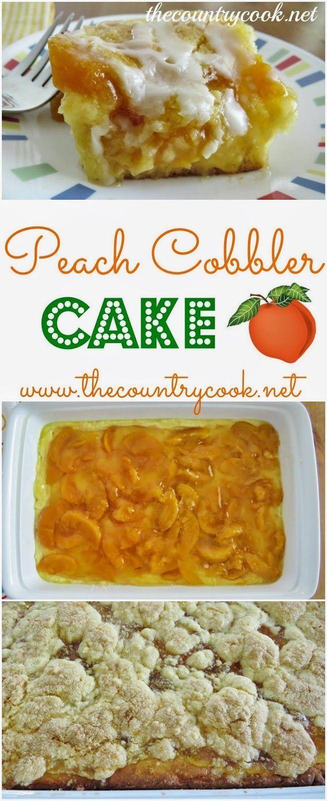 Peach Cobbler Cake #peachcobblercheesecake Peach Cobbler Cake #peachcobblercheesecake