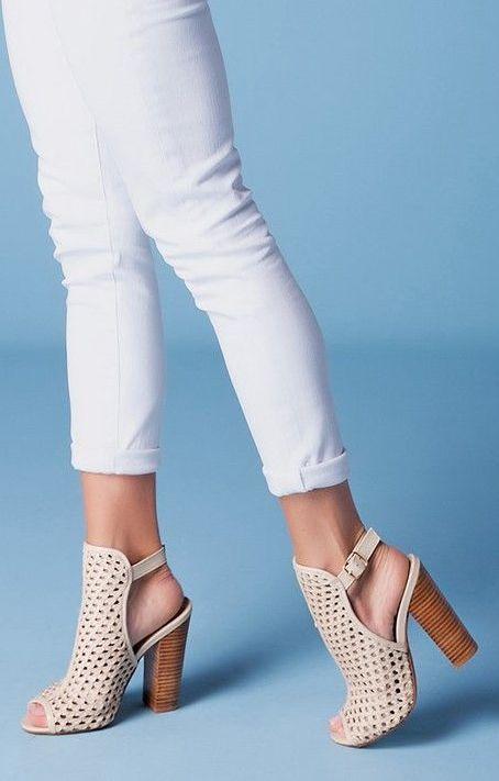 Chinese Laundry Kristin Cavallari Peep Toe Shoes Woven Leather