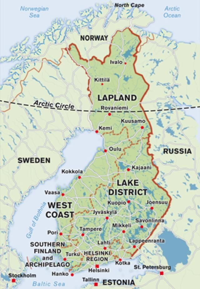 Map of Finland FINLAND Pinterest Finland Photo galleries and