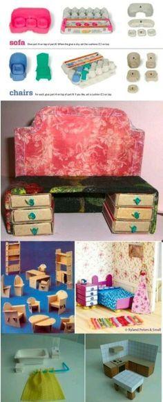 Muebles para barbie | manualidades | Pinterest | Barbie, muebles de ...