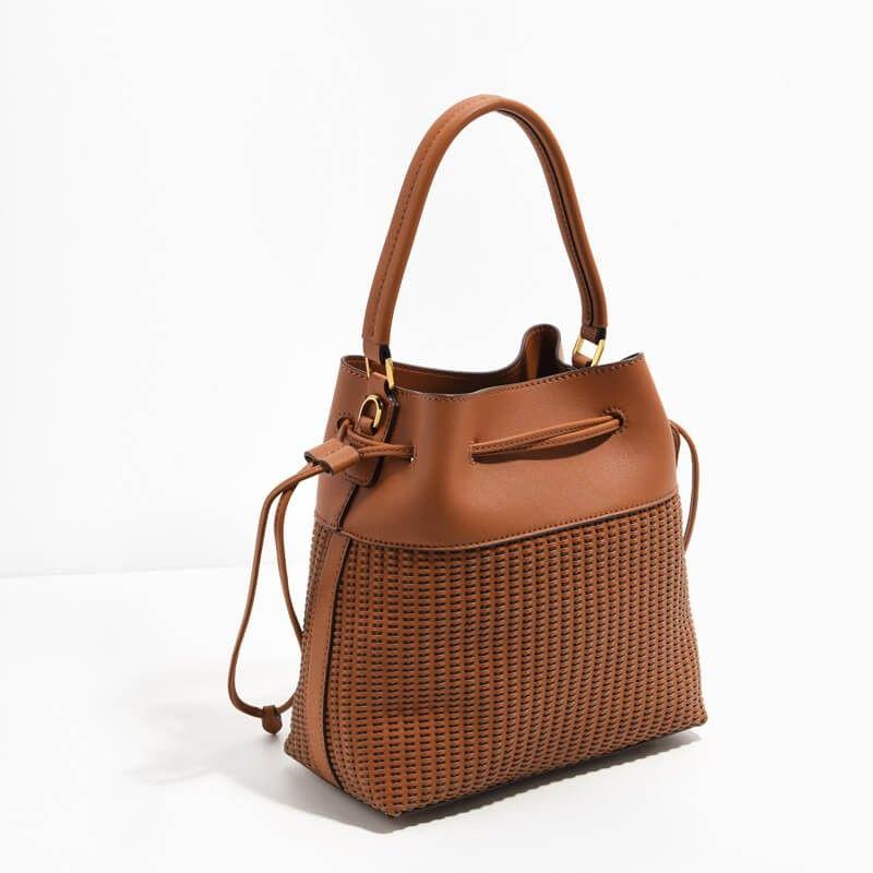 Charles & Keith Textured Drawstring Bag ZPlha