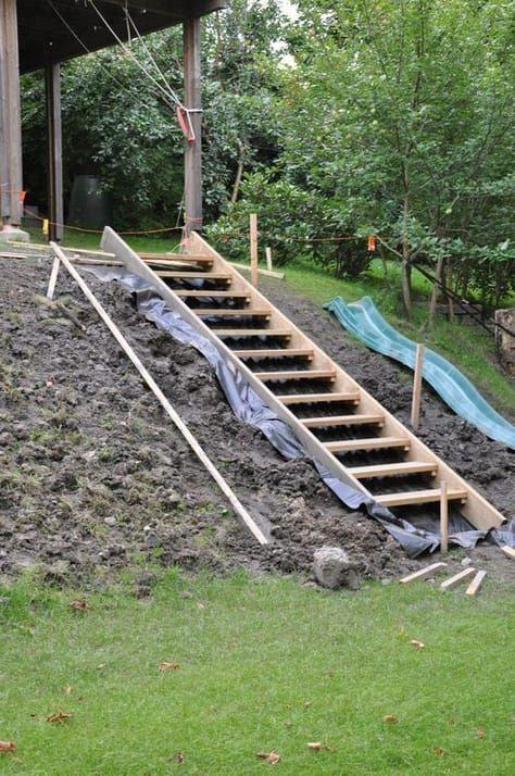 Sloping garden idea steep #slopinggardenwall | Sloped ... on Steep Sloping Garden Ideas id=44741