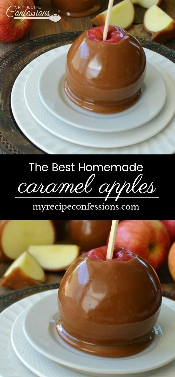 The Best Homemade Caramel Apples #caramelapples