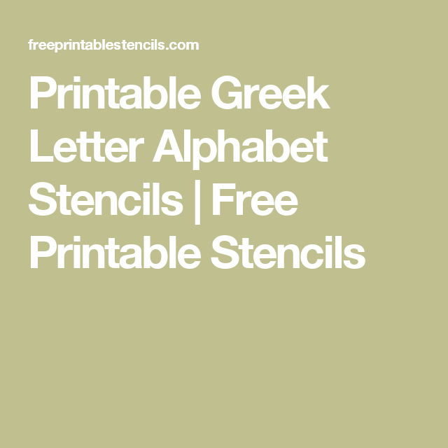 It is an image of Printable Greek Letter Stencils for Shirts throughout applique