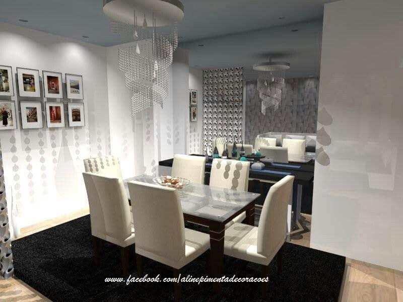 Sala de jantar,  integrada a sala de estar tv.