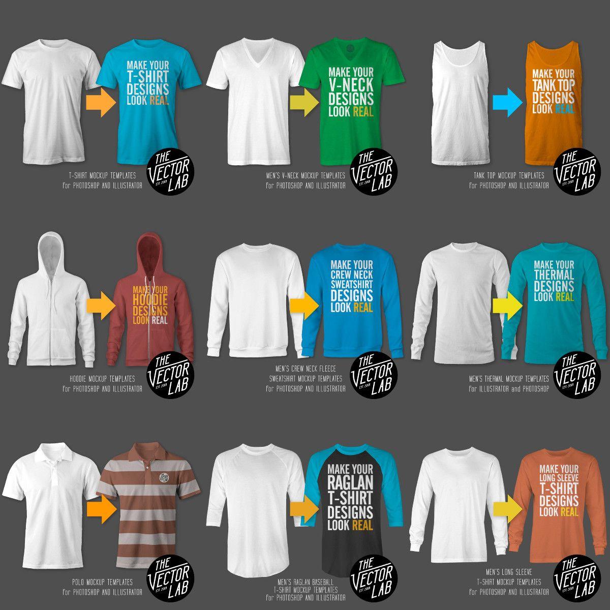 Download Men S T Shirt And Apparel Mockup Templates Bundle Clothing Mockup Logo Design Sweatshirt Designs