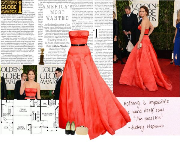 Jennifer Lawrence in Dior Haute Couture | Strapless dress ...