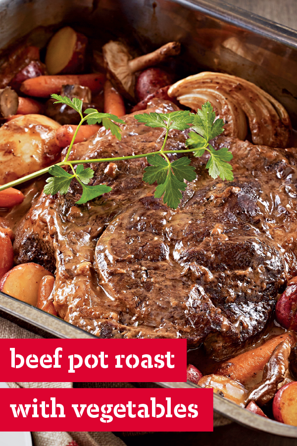 Beef Pot Roast And Winter Vegetables Cook This Beef Pot Roast Low And Slow For Juicy Tenderness On Your Pot Roast Recipes Pot Roast Roasted Winter Vegetables