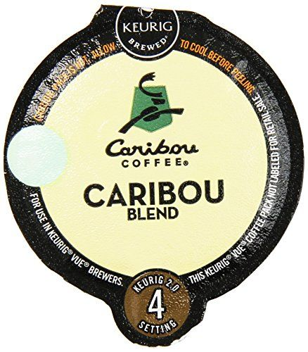 32 Count Caribou Blend Vue Cup Coffee For Keurig Vue