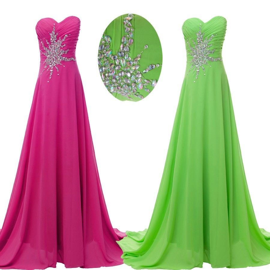 maxi beaded long dress prom evening gown ball party bridesmaid