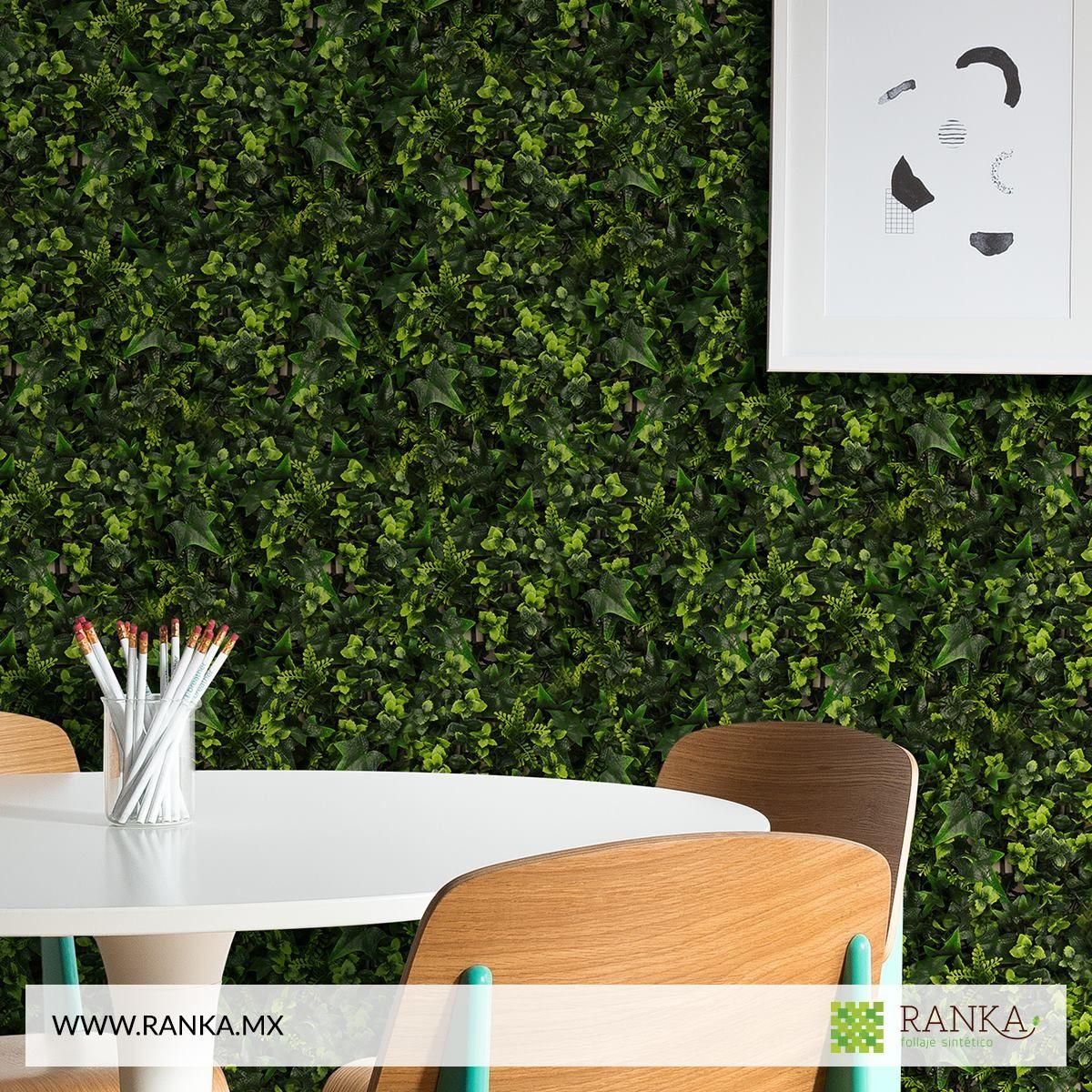 Somos la primera empresa de muros verdes en m xico for Plantas artificiales para interiores