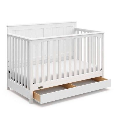 Graco Hadley 4-in-1 Convertible Crib with Drawer - White ...