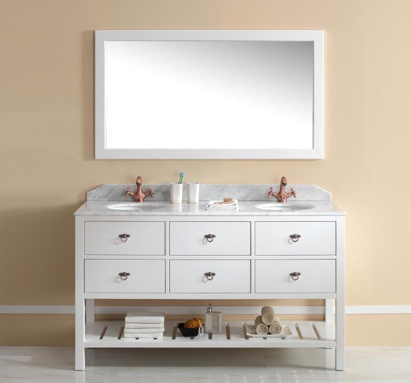 Vanity Bathroom Brisbane salerno freestanding timber vanity with double basin - traditional