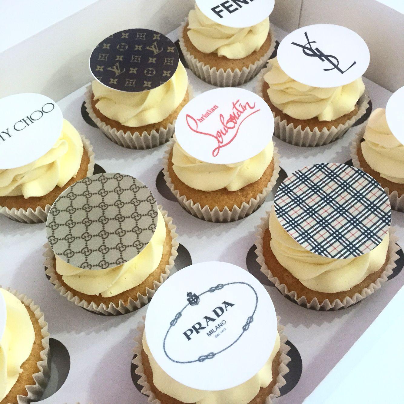 Designer logo cupcakes