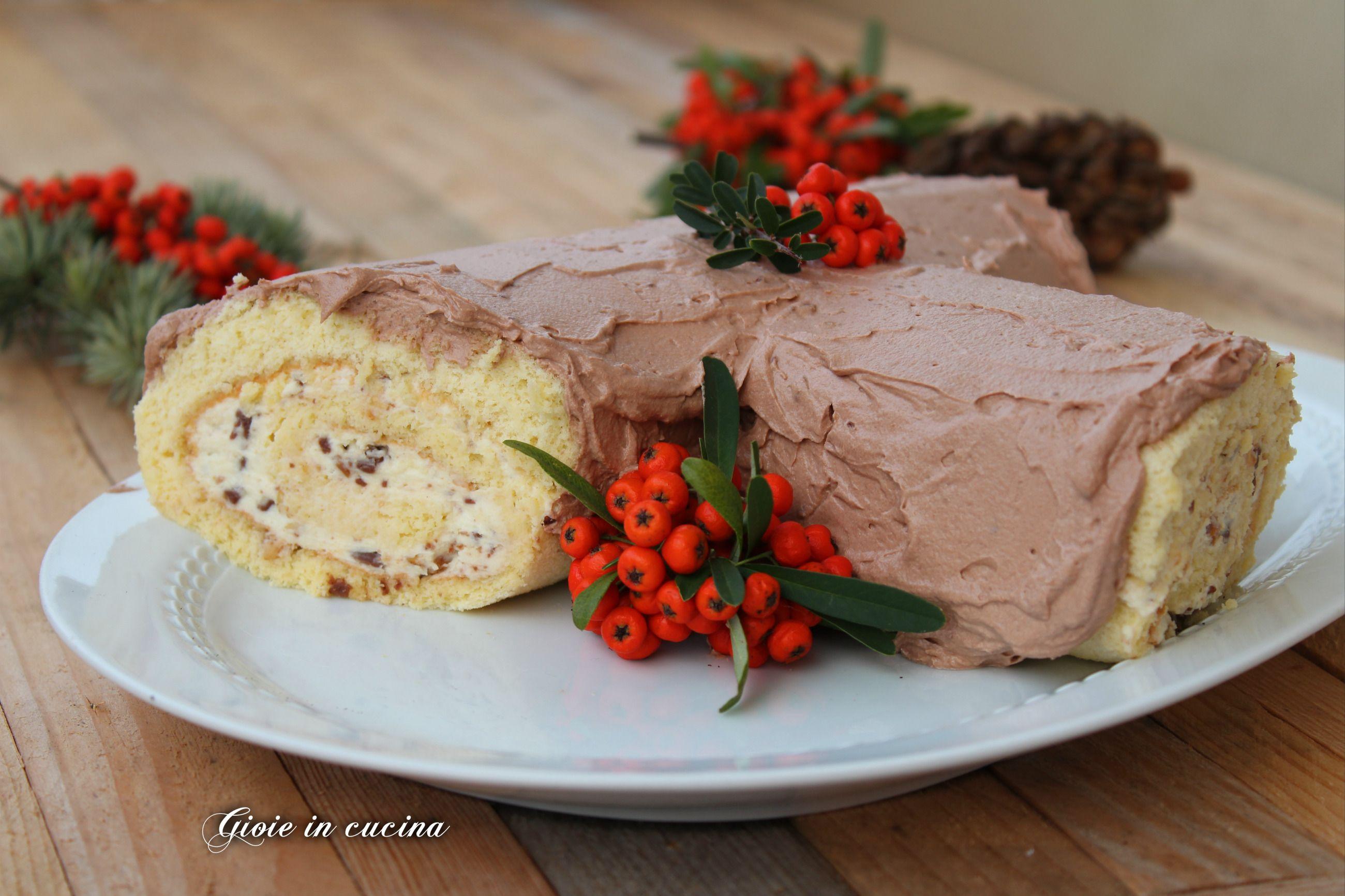 Buon Natale Con Il Torrone.Tronchetto Di Natale Con Crema Al Torrone Christmas