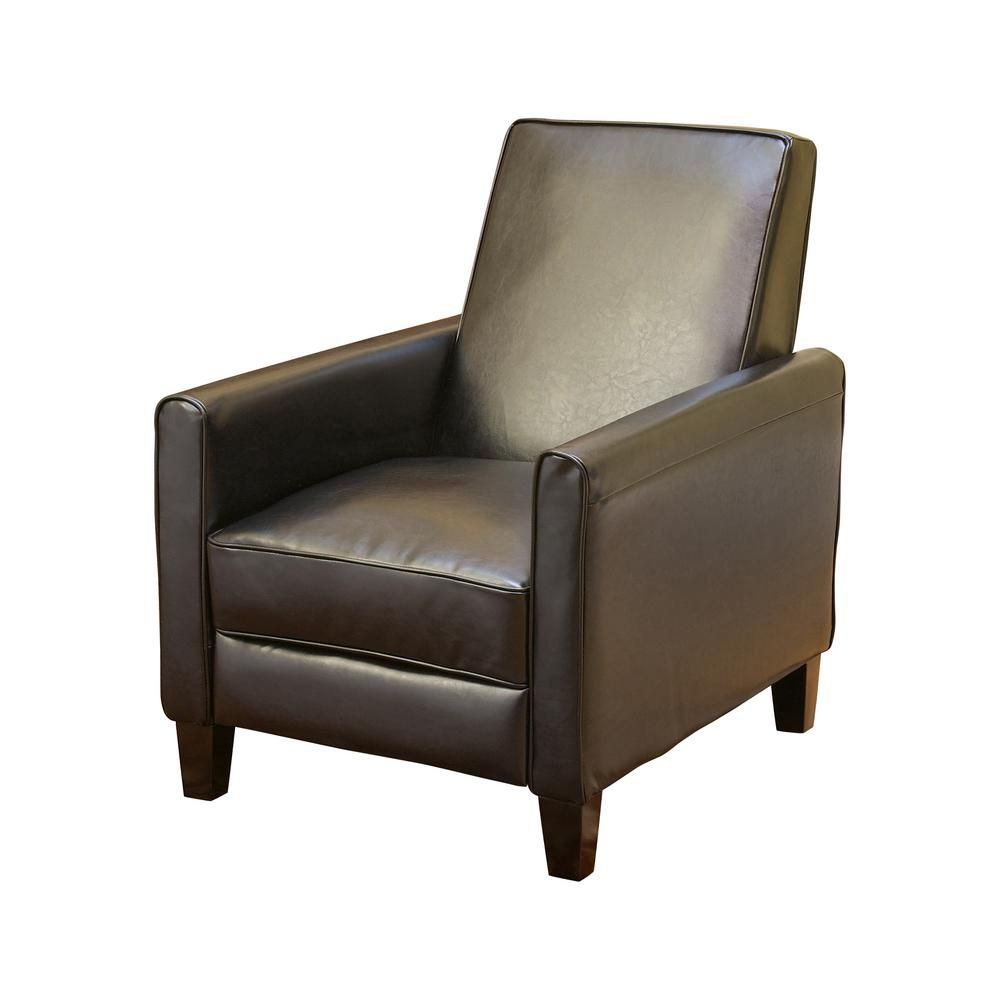 Phenomenal Noble House Darvis Black Leather Recliner Club Chair Machost Co Dining Chair Design Ideas Machostcouk