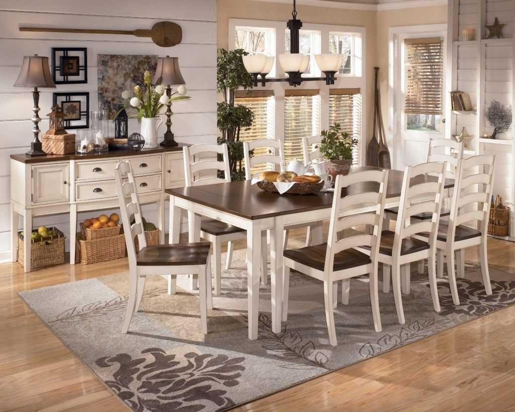 White Table And Chairs With Bench