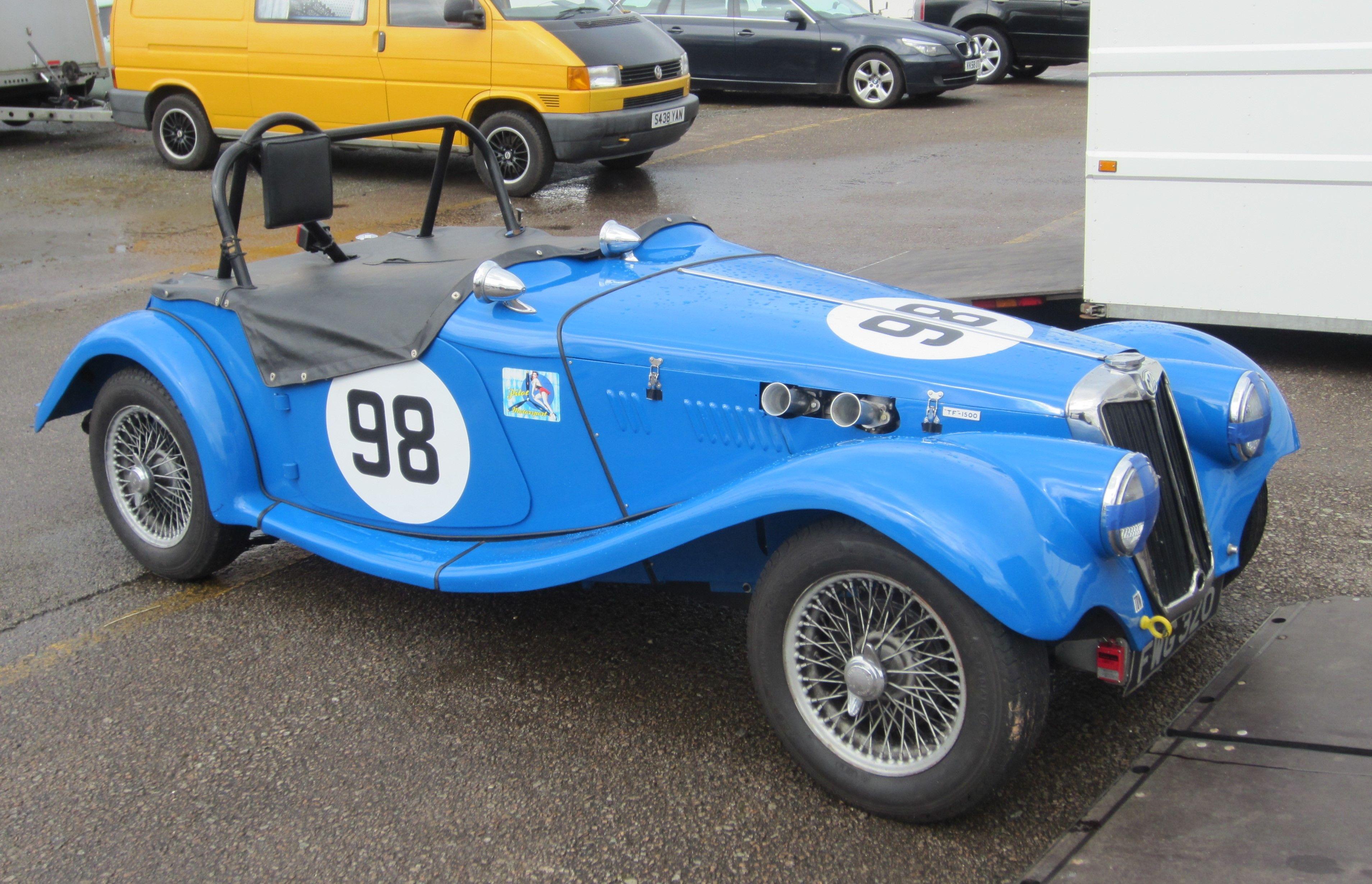 Class mg ttypes racing open wheel racing car