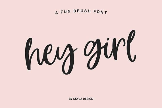 Modern Brush Font Fun Bold Download Digital Calligraphy Cursive Handwritten Cute