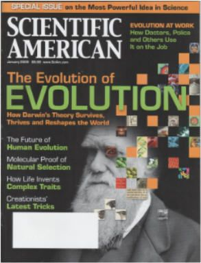 Scientific American issue to celebrate 200th birthday of Darwin