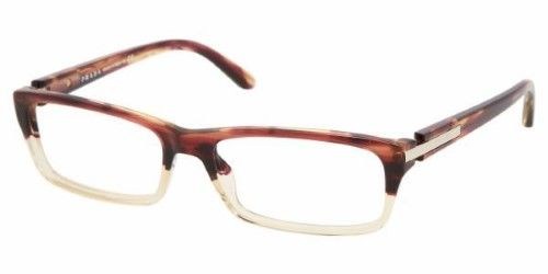 b1779c2f61 Prada SPR 05NV RWX-1O1 Rectangle Eyeglasses Tortoise (Green) Demo Lens