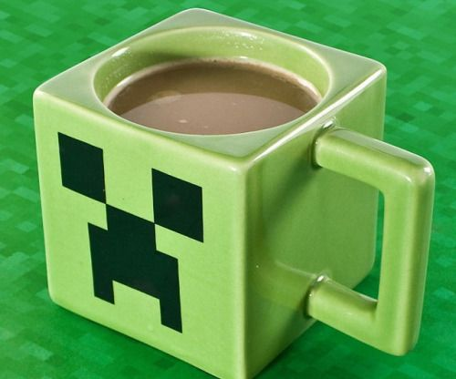 Minecraft Coffee Mug Keep yourself awake during your next building - how to keep yourself awake