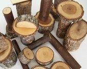 natural wood blocks