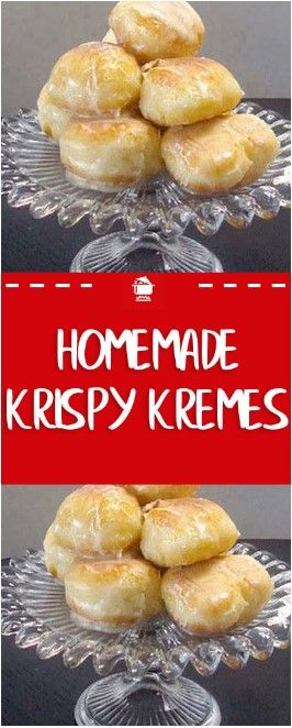 Krispy Kreme Recipe: Light and fluffy topped with a rich glaze that will melt in...