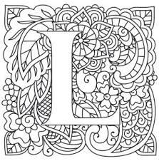 Image result for coloring pages for adults letter L ...