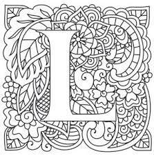 Image Result For Coloring Pages For Adults Letter L Desenhos Para Colorir Adultos Alfabeto Para Colorir Desenhos De Mandalas