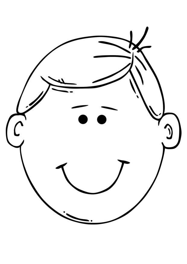 Erkek Cocuk Yuz Boyama Sayfasi Boy Face Coloring Pages