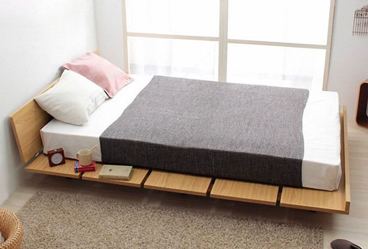 the amaya wood bed frame is a japanese themed platform bed with a wonderful match of minimalist design with utility headboard is adjustable