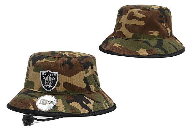 0d5c97858cc NFL Oakland Raiders Bucket Hats Camo