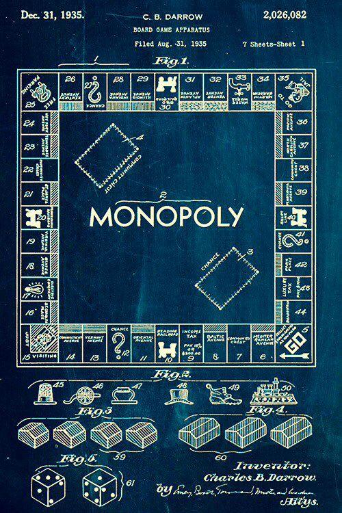 Monopoly blueprint random art pinterest monopoly monopoly blueprint monopolyart posters malvernweather Image collections