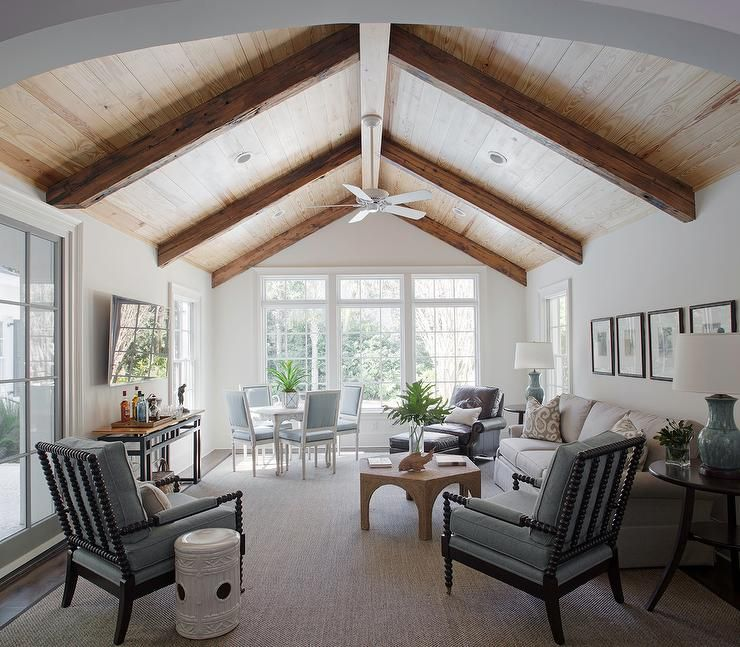 Image result for rounded peak in vaulted ceiling | Beams ...