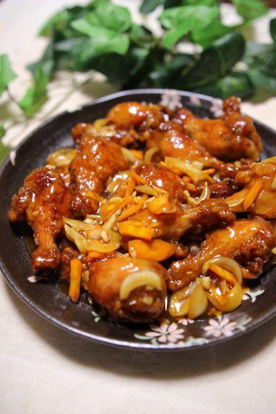 ポン酢で味付け簡単♪】たっぷり野菜と鶏手羽元のポン酢あんかけ by