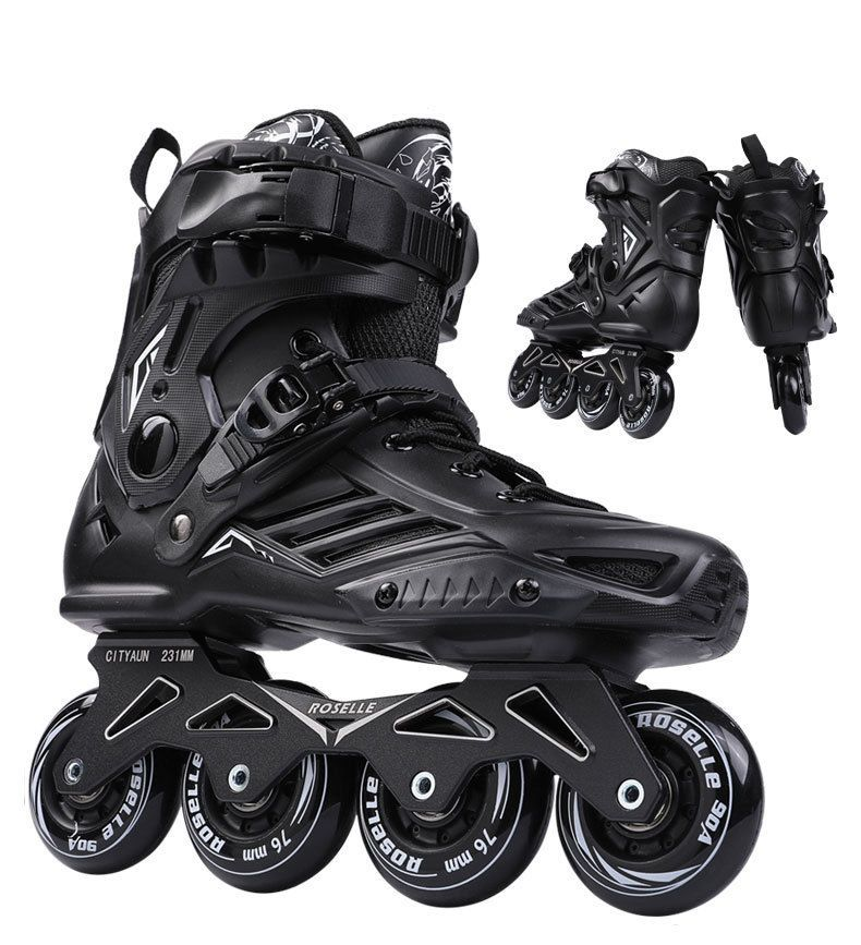 Brand New Inline Skates Boots Free Style Skating Shoes Black White