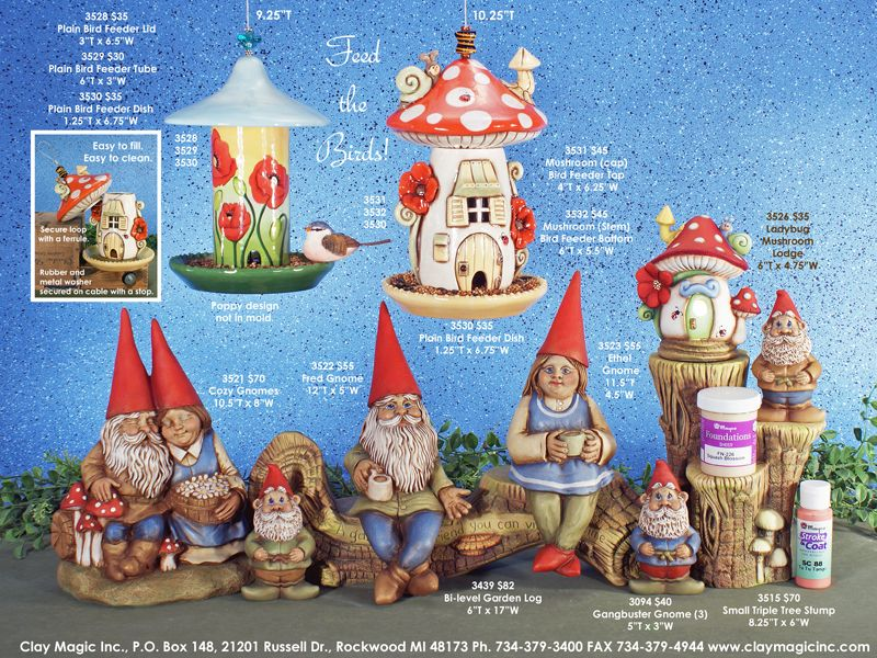 Ready to Paint Cozy Gnome 10 x 8 Ceramic Bisque
