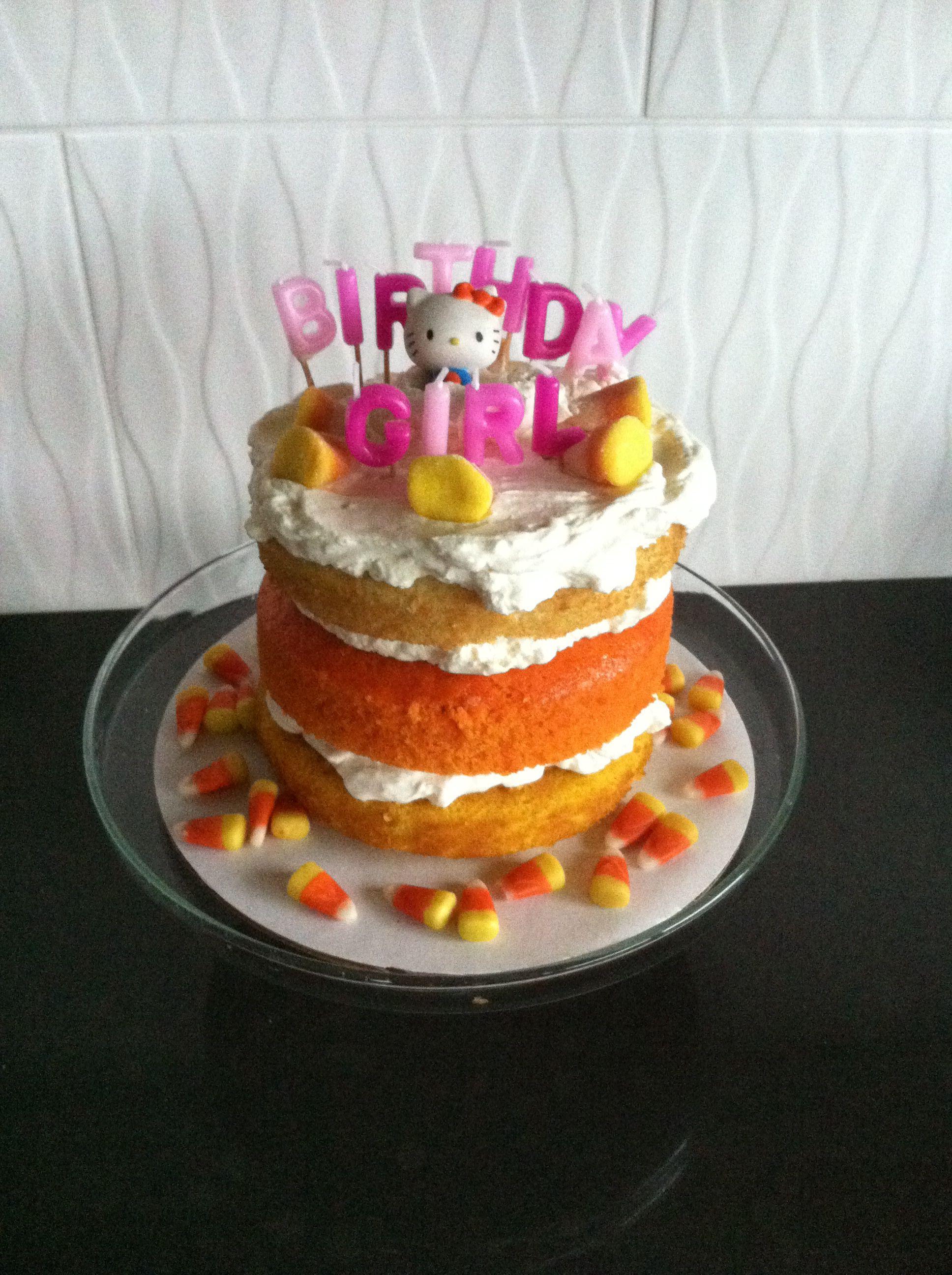 Hello Kitty Candy Corn Birthday Cake Halloween Pinterest Candy