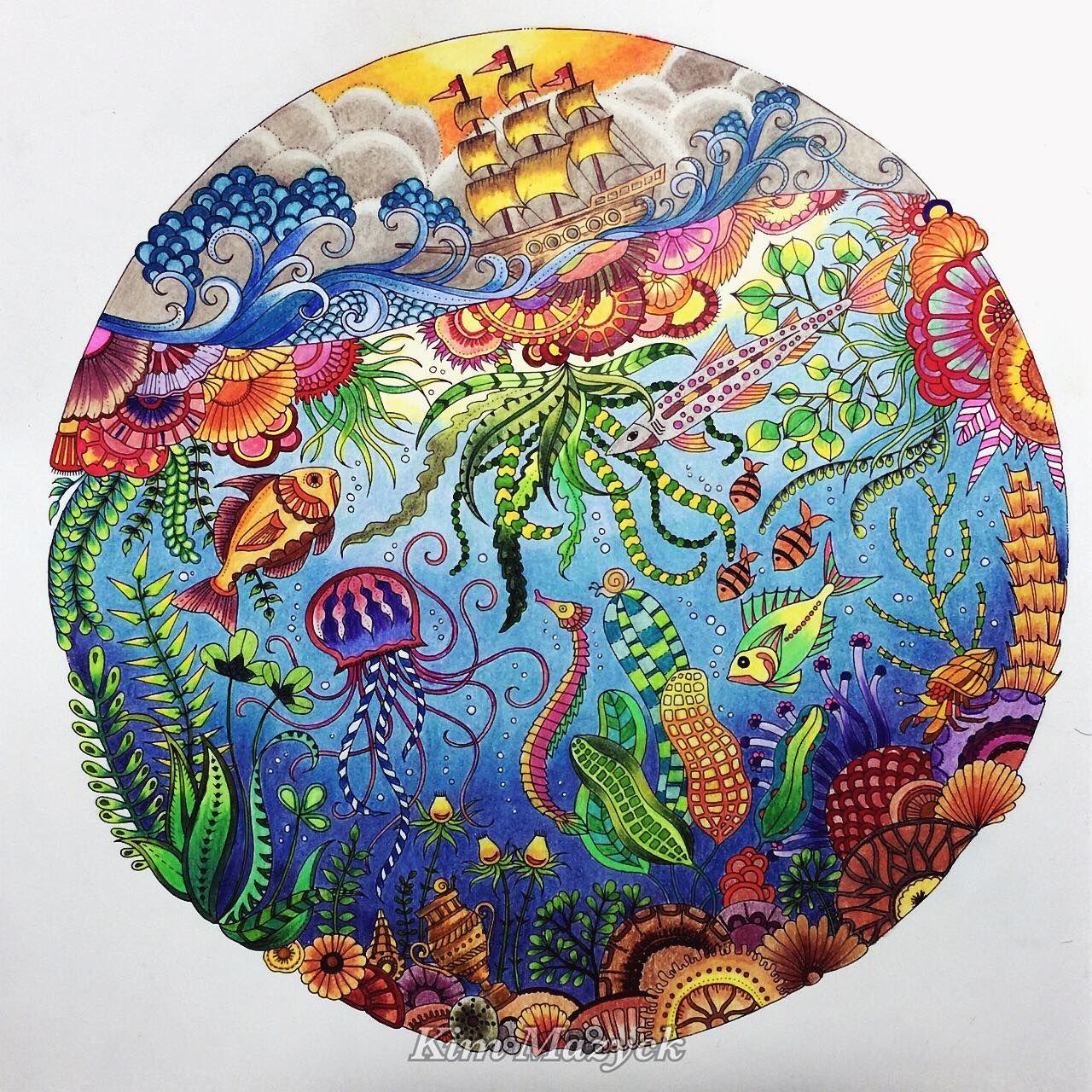 Johanna Basford S Lost Ocean Lost Ocean Coloring Book Johanna Basford Coloring Johanna Basford Coloring Book