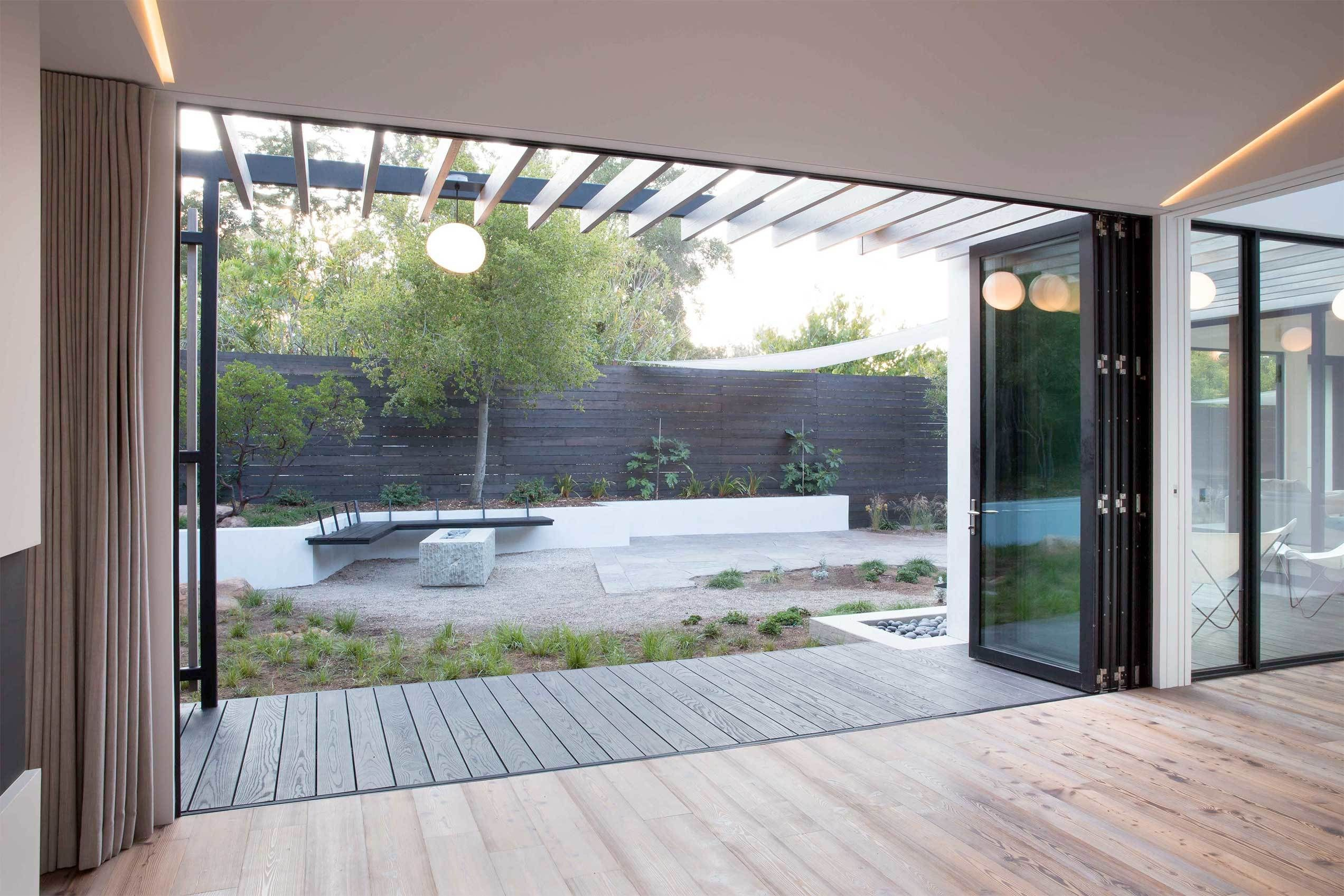 Serenity Now Folding Doors Modern Door Backyard Door