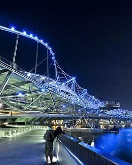 Helix Bridge, Singapore design by Cox Rayner Architects - image 5