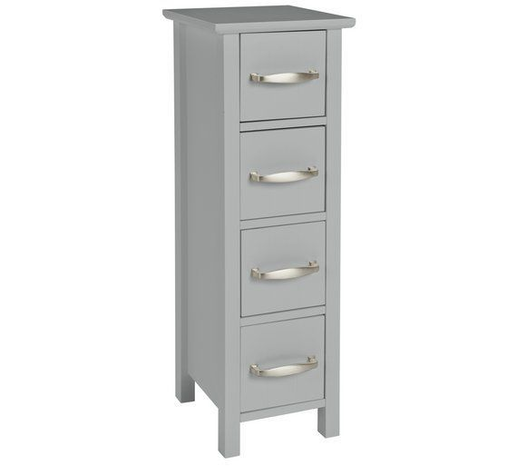 Buy Argos Home Tongue & Groove 4 Drawer Slimline Unit ...