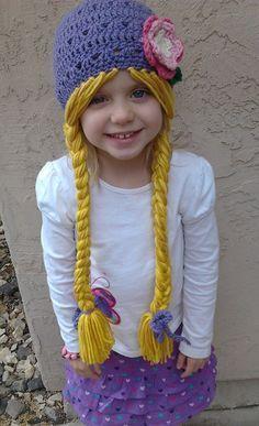 e2e77457ef9 Purple Rapunzel Character Hat with Long Braids