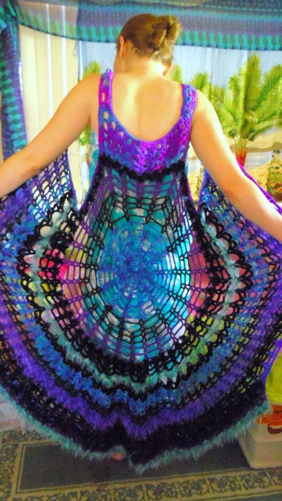 Spider Web Mandala Vest Dress Pattern Make Your Own Crochet Vest