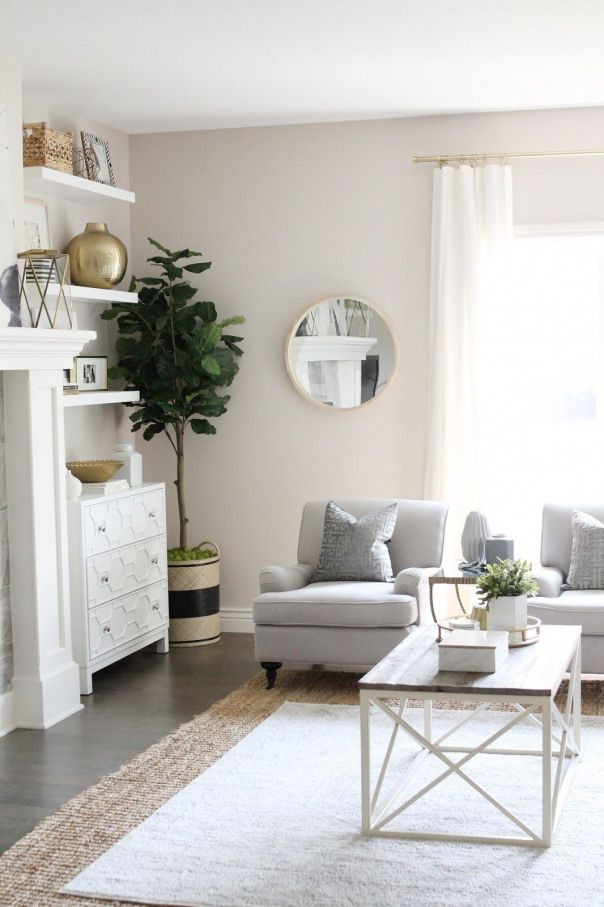 12th and White: Living Room Reveal {How to Fake Built-In Shelving} #livingroom #traditional #living #room #havenlylivingroom