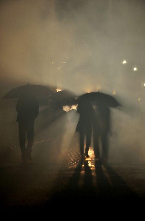 Walking in City Darkness
