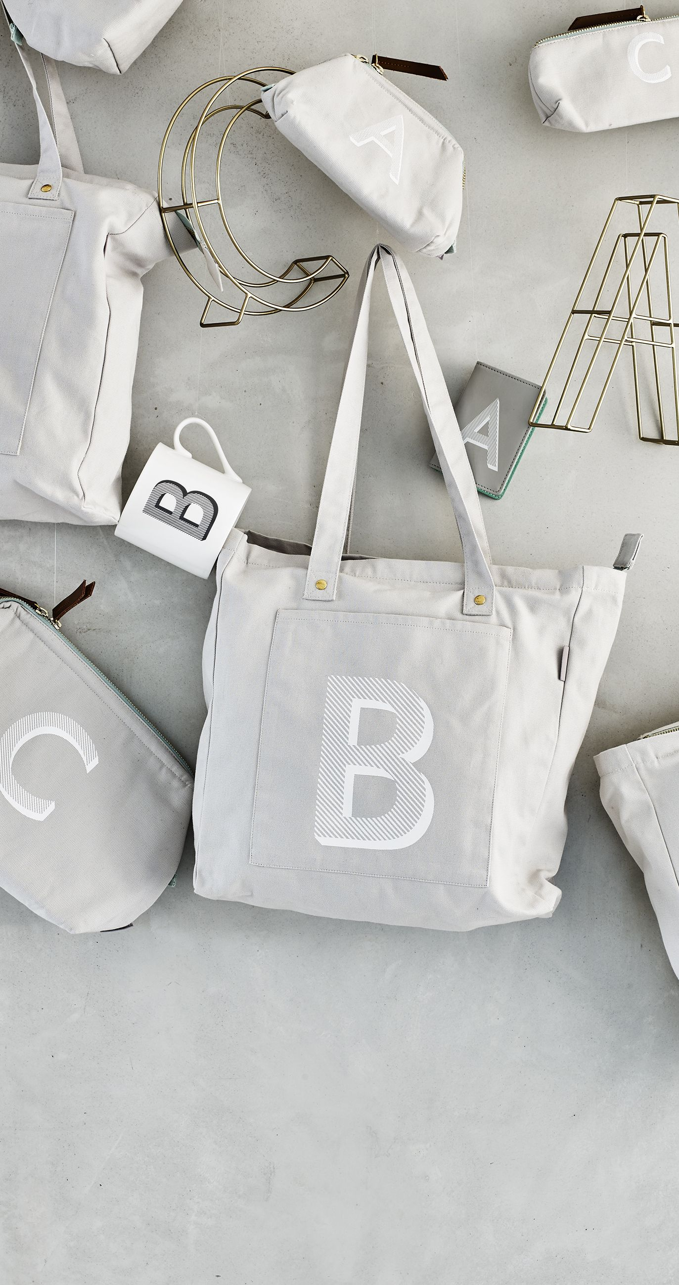 31aa7c622 The Alphabet Shopper Bag is when shopping gets personal.