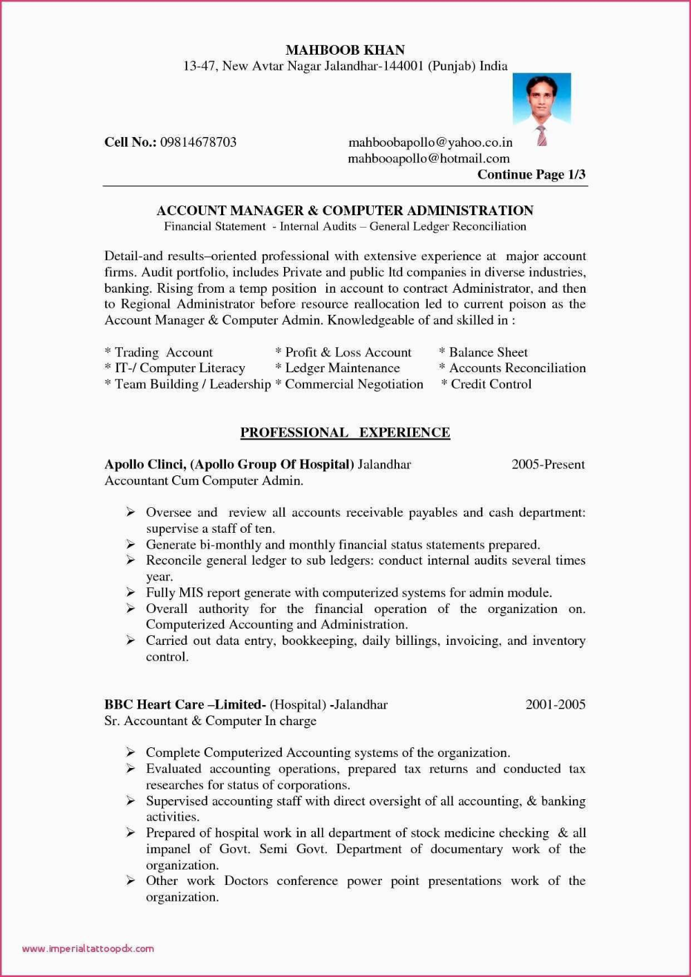 Sample Profit And Loss Statement And Balance Sheet Of Balance Sheet Throughout Certificate Of Analysis Resume Format In Word Accounting Jobs Accountant Resume